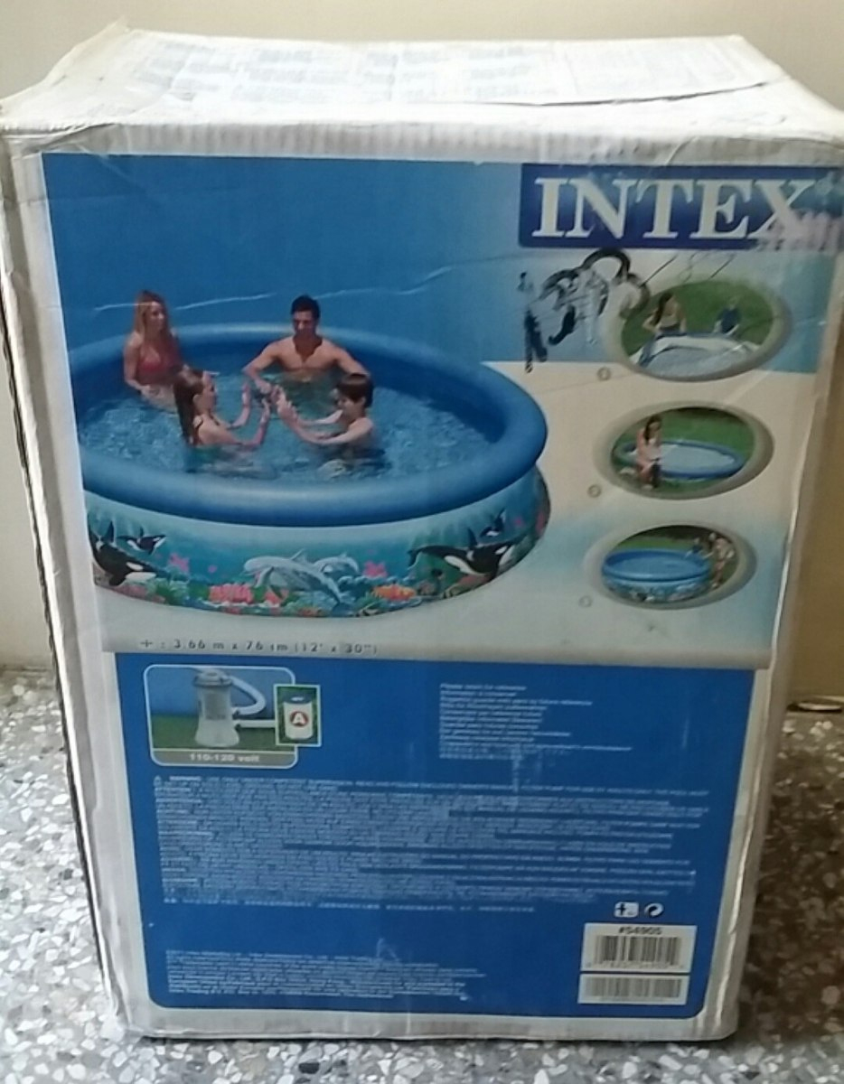 Piscina Inflable Familiar Intex 3.66Mx76Cm Con Filtro +Obseq à Piscine Intex 3.66