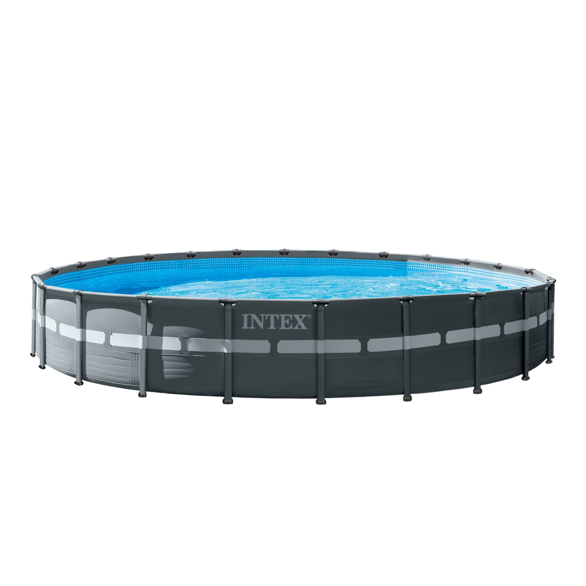 Piscina Intex Ultra Xtr Frame™ Set, Panou Protectie, Scara Inclusa, 6.1M X  1.2M dedans Piscine Intex 3.66