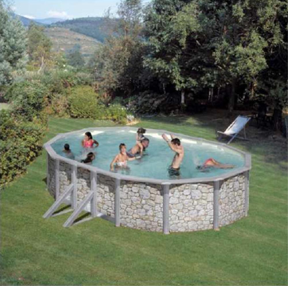 Piscina Ovale San Marina Iraklion 500X300X120 Cm : Rospetto concernant Piscine 3X3