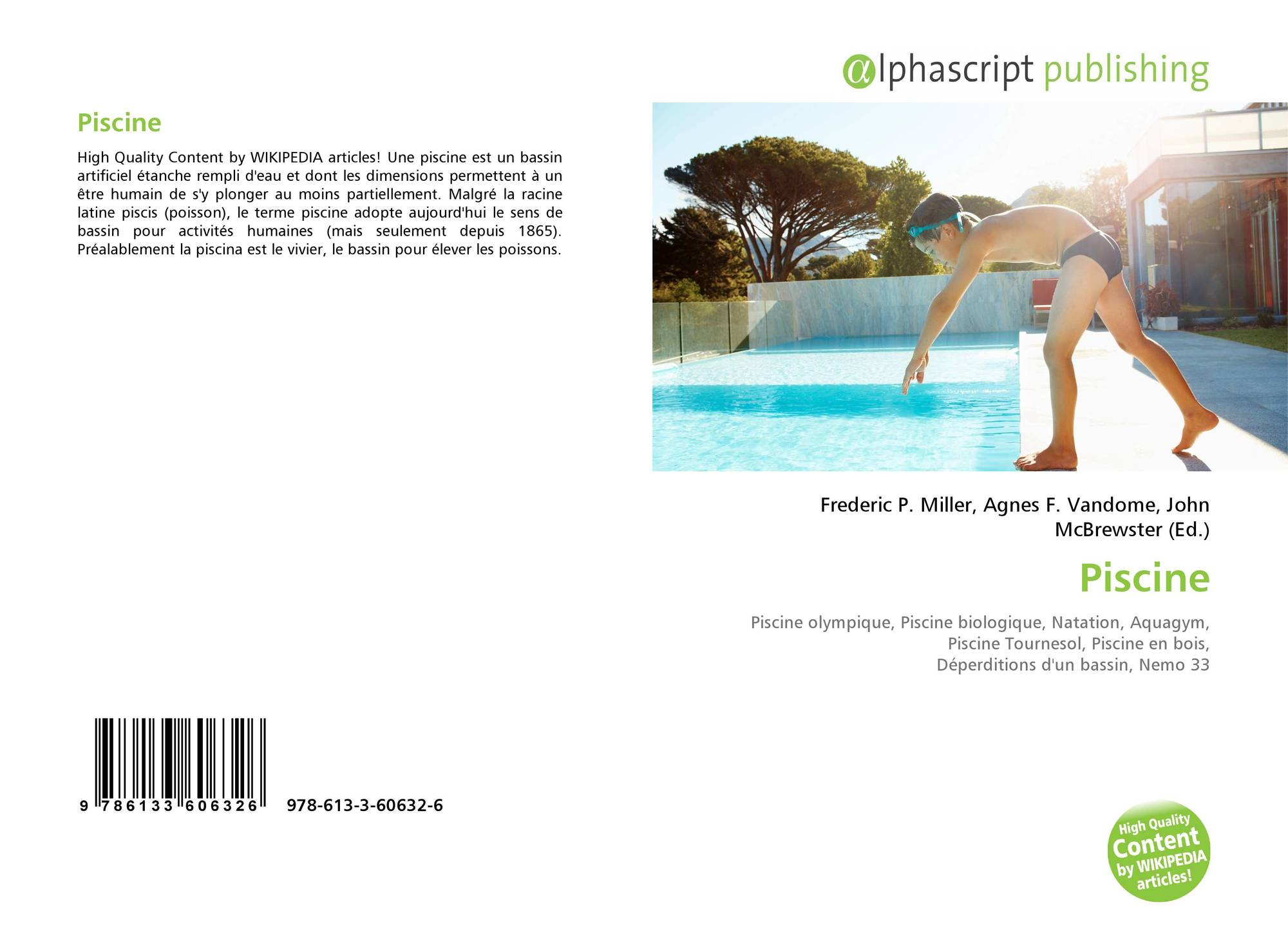 Piscine, 978-613-3-60632-6, 6133606320 ,9786133606326 avec Dimension Piscine Olympique