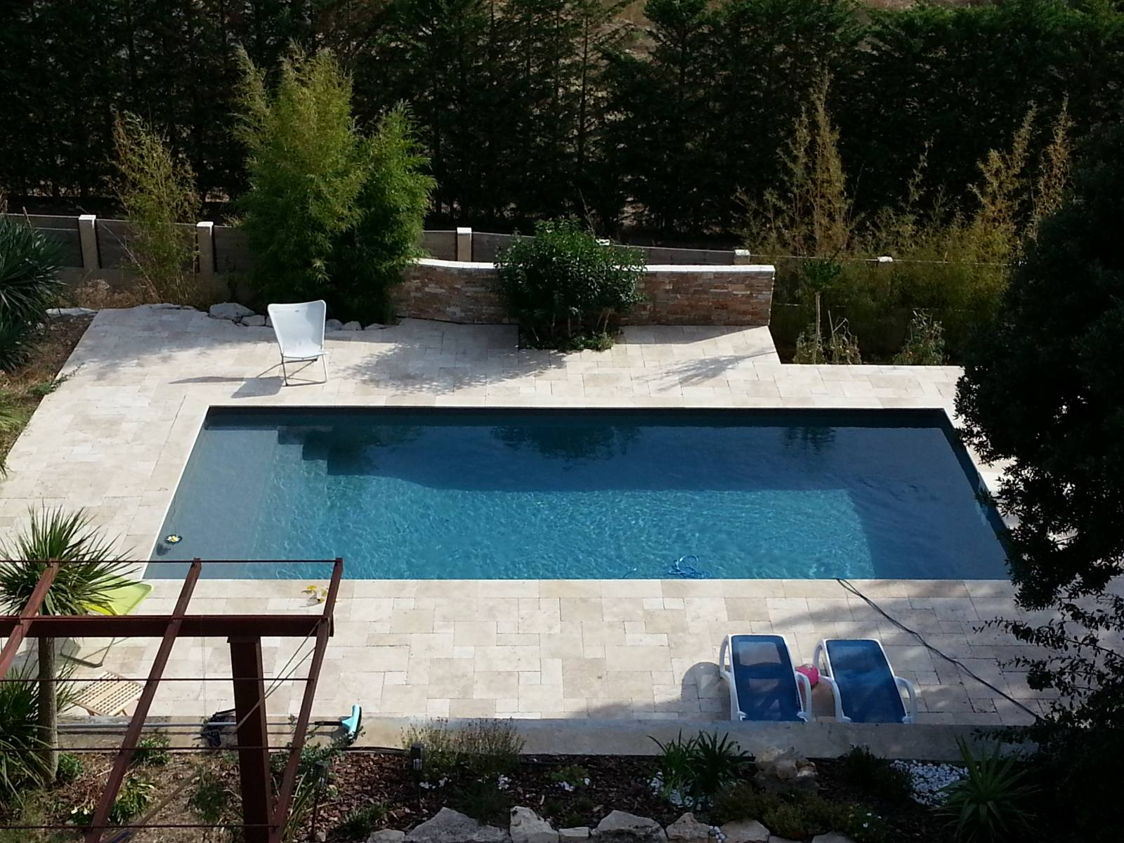 Piscine 9X4M Rectangulaire Gris Anthracite Avec Filtration ... destiné Piscine Grise