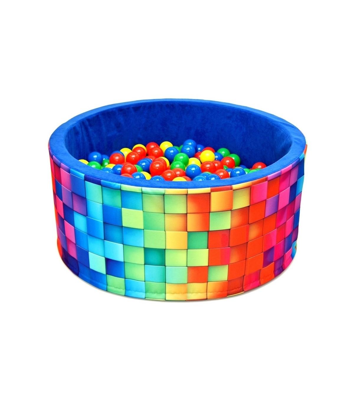 Piscine À Balles Pour Enfants Fun Blue-Tiles à Piscine À Balle