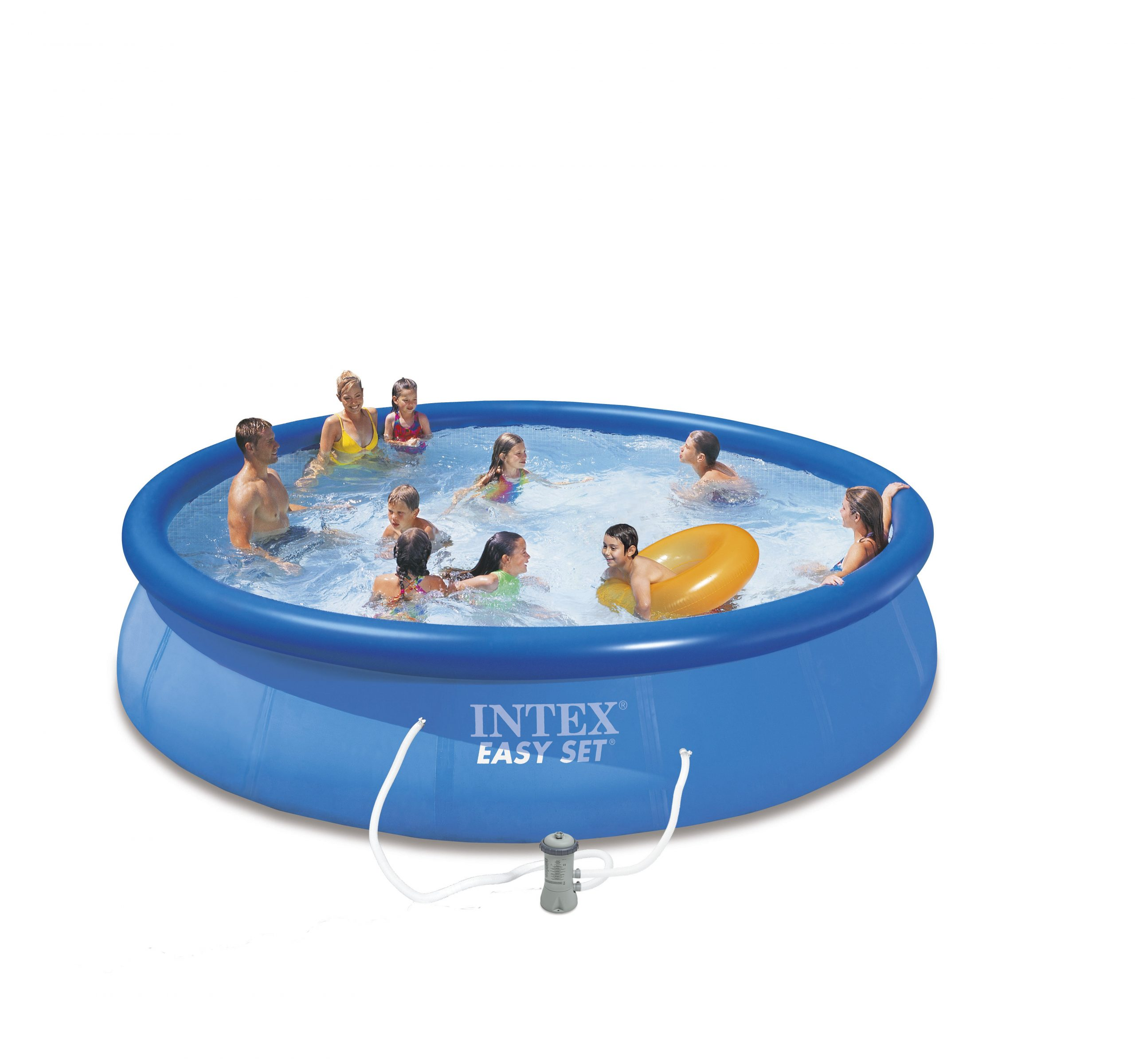 Piscine Autoportante Gonflable Easy Set Intex Diam.4.57 M X H.0.84 M destiné Piscine Autoportée Leroy Merlin