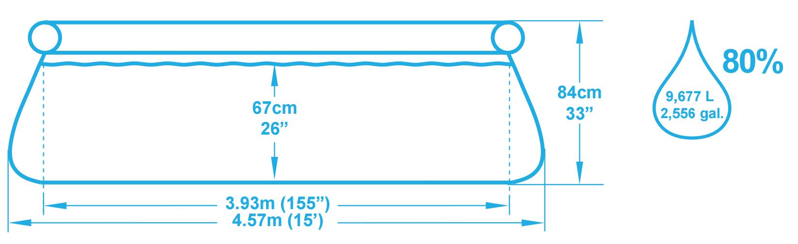 Piscine Autoportée Bestway Fast Set 4.57 X 0.84 M concernant Piscine Autostable