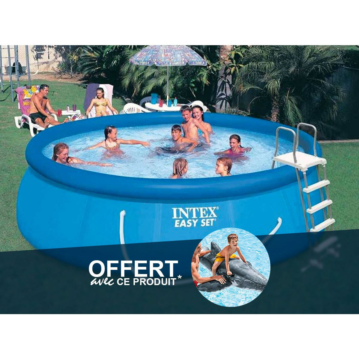 Piscine Autoportée Easy Set 4,57 X 1,22 M - Intex - Taille ... à Piscine Intex 3.66