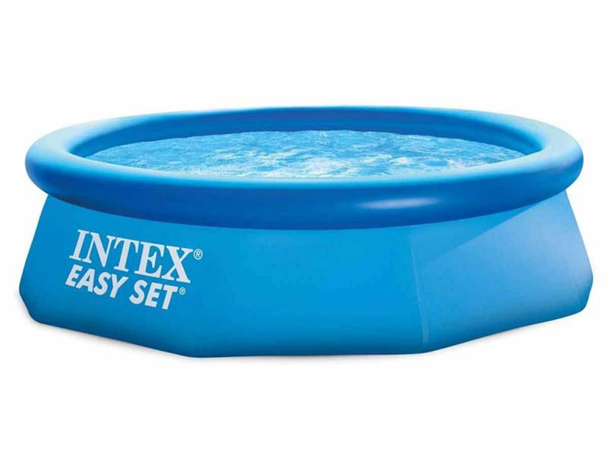Piscine Autoportée Intex Easy Set + Filtre & Accessoires À ... avec Piscine Autoportée Ovale