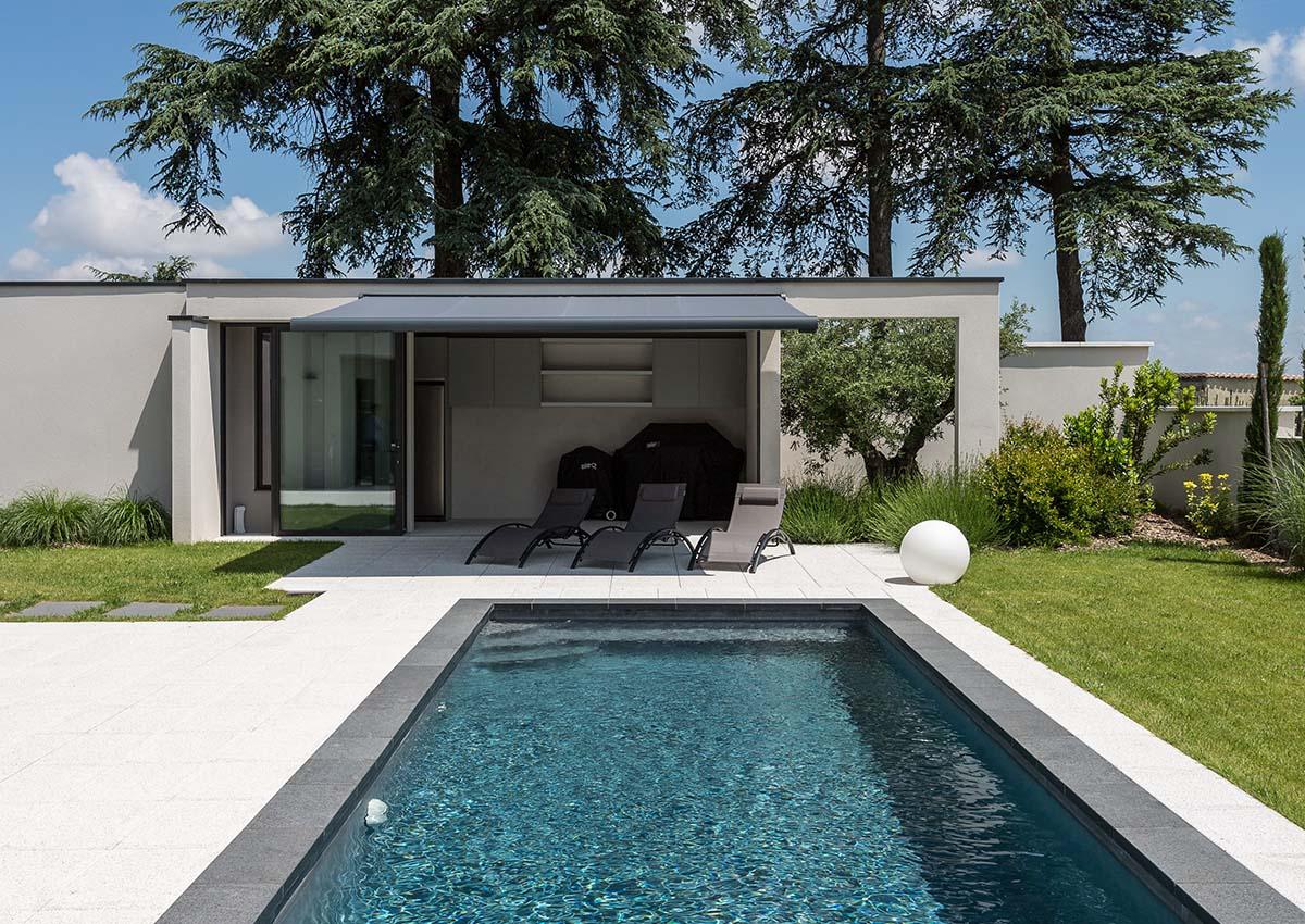 Piscine Avec Poolhouse Lyon - La Construction Lyonnaise avec Piscine De Brignais
