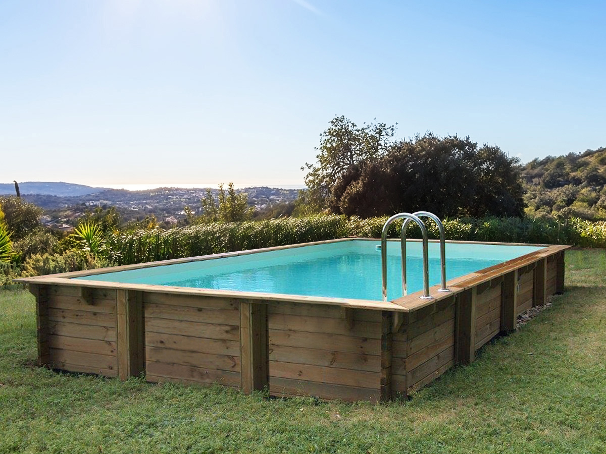 "Piscine Bois En Kit Rectangle "" Tampa "" - 7.20 X 4.20 X 1.44 ... destiné Piscine Bois Cordoue"