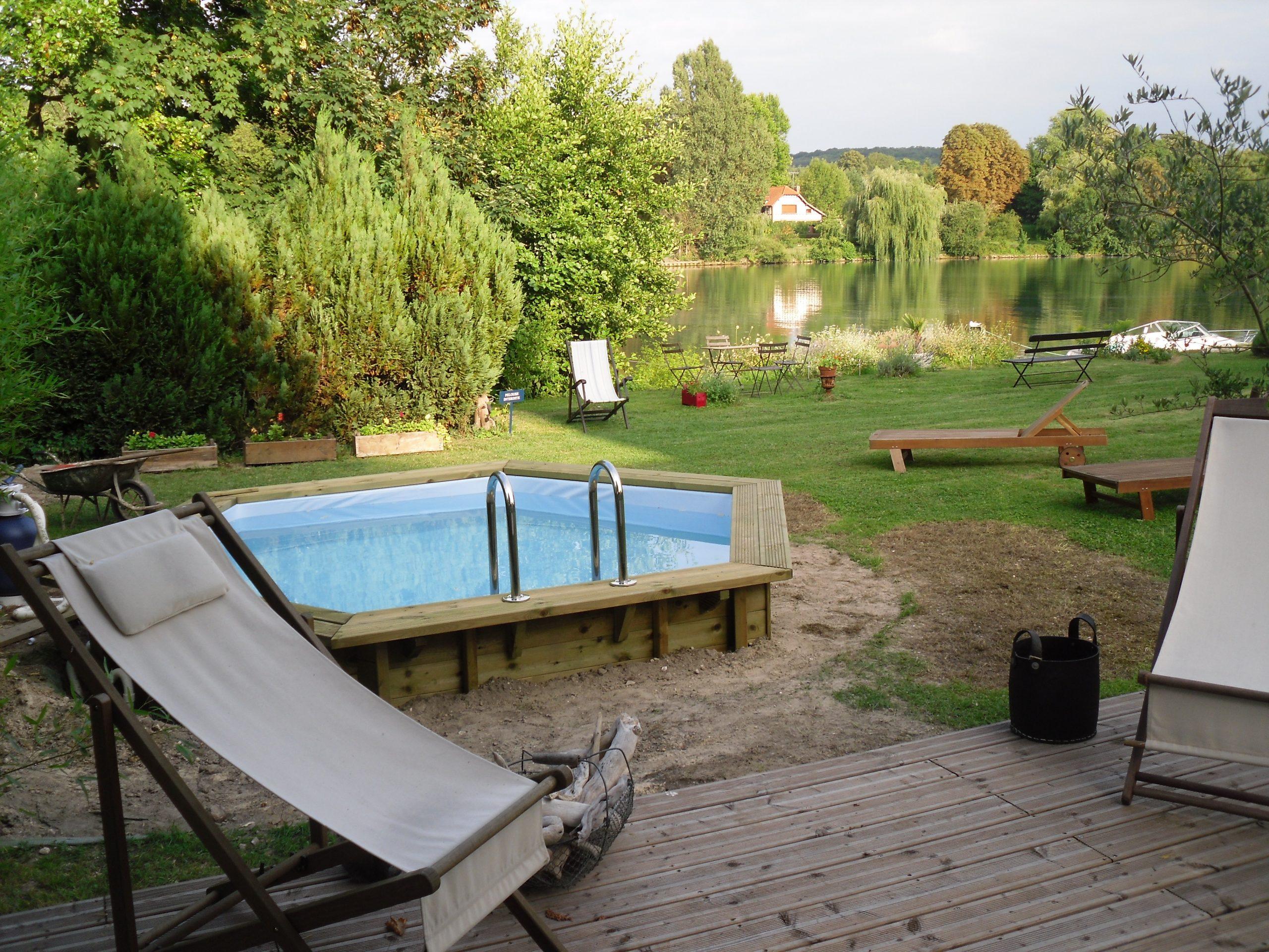 Piscine Bois Hexagonale Ubbink 410X120 Cm + Bache À Bulle destiné Montage Piscine Bois