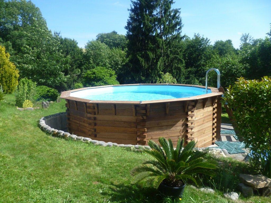Piscine Bois Hors-Sol Maéva 500 #bois #piscine #plaisir #eau dedans Piscine Plaisir