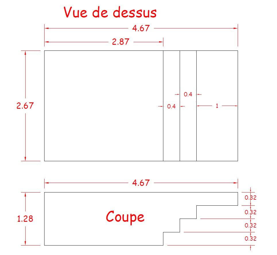 Piscine Bois Luxe Rectangulaire Avec Plage Immergée + Escalier 520X320X131Cm concernant Plan De Coupe Piscine