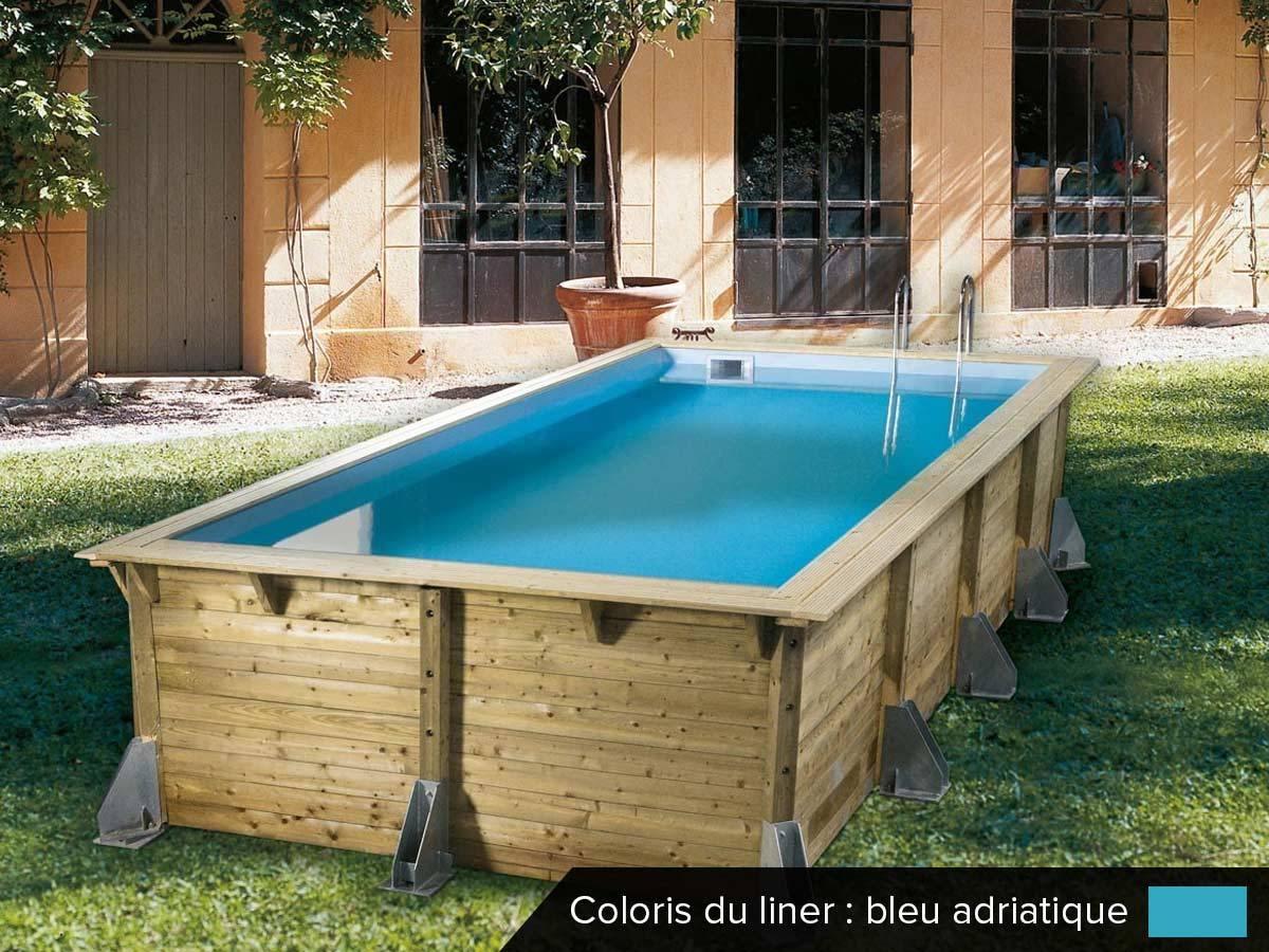 Piscine Bois Pas Cher Azura 5,05 X 3,50 X 1,26 M Ubbink ... concernant Coffre De Filtration Piscine Pas Cher