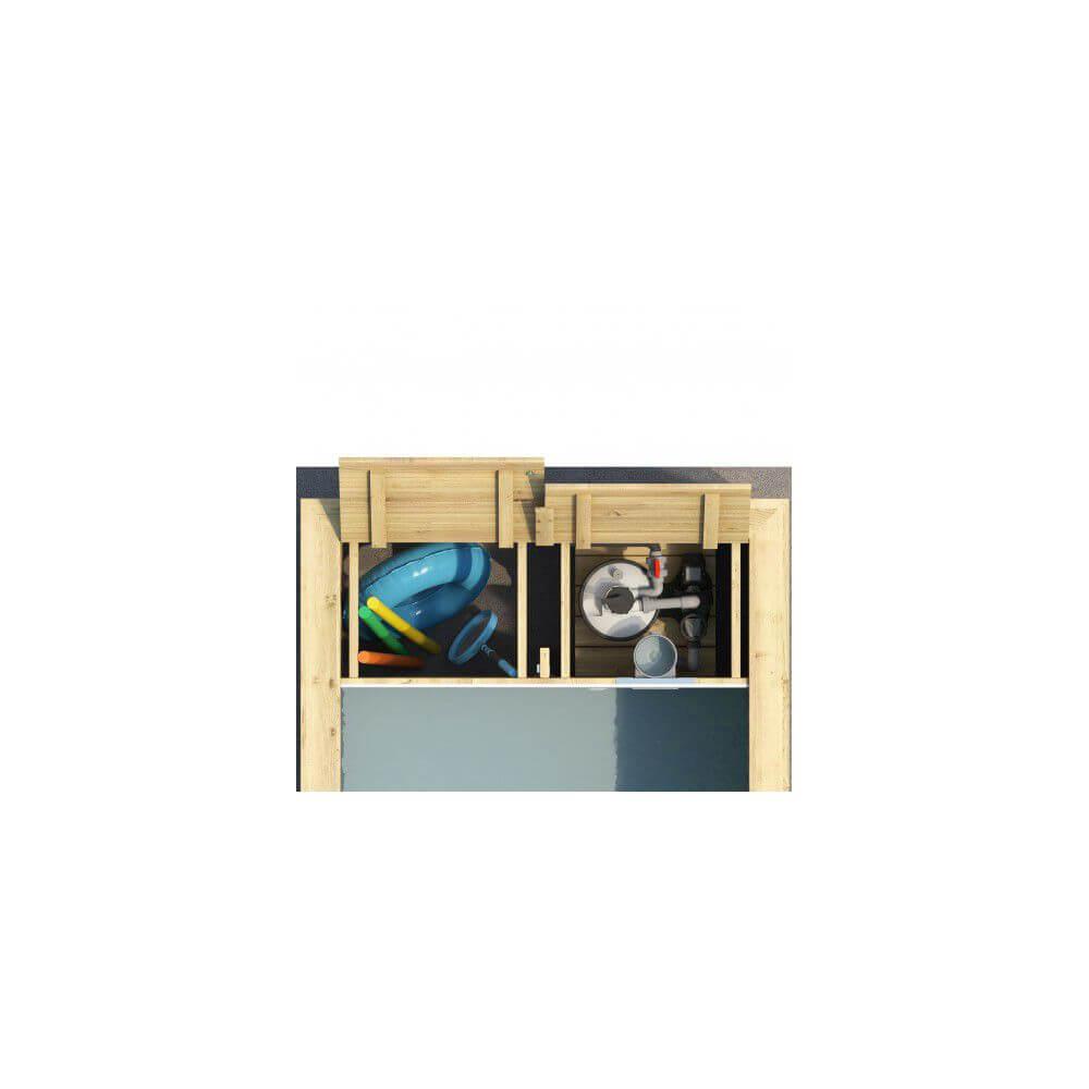 Piscine Bois Pool'n'box 500 X 200 X H 133 Cm - Avec Coffre De Filtration destiné Coffre De Filtration Piscine