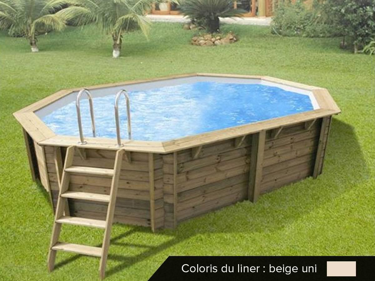 Piscine Bois Sunwater 4,90 X 3,00 X 1,20 - Ubbink - pour Montage Piscine Bois