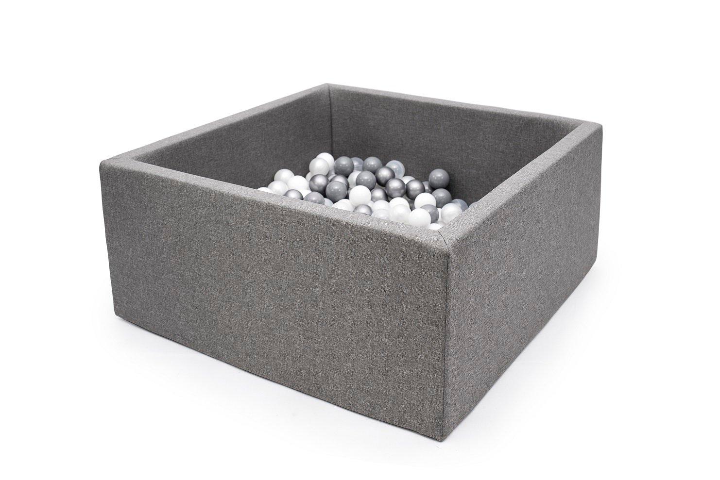 Piscine Carrée 4 Coloris Au Choix Avec 250 Balles | Gribouilletachambre à Piscine A Balle En Mousse