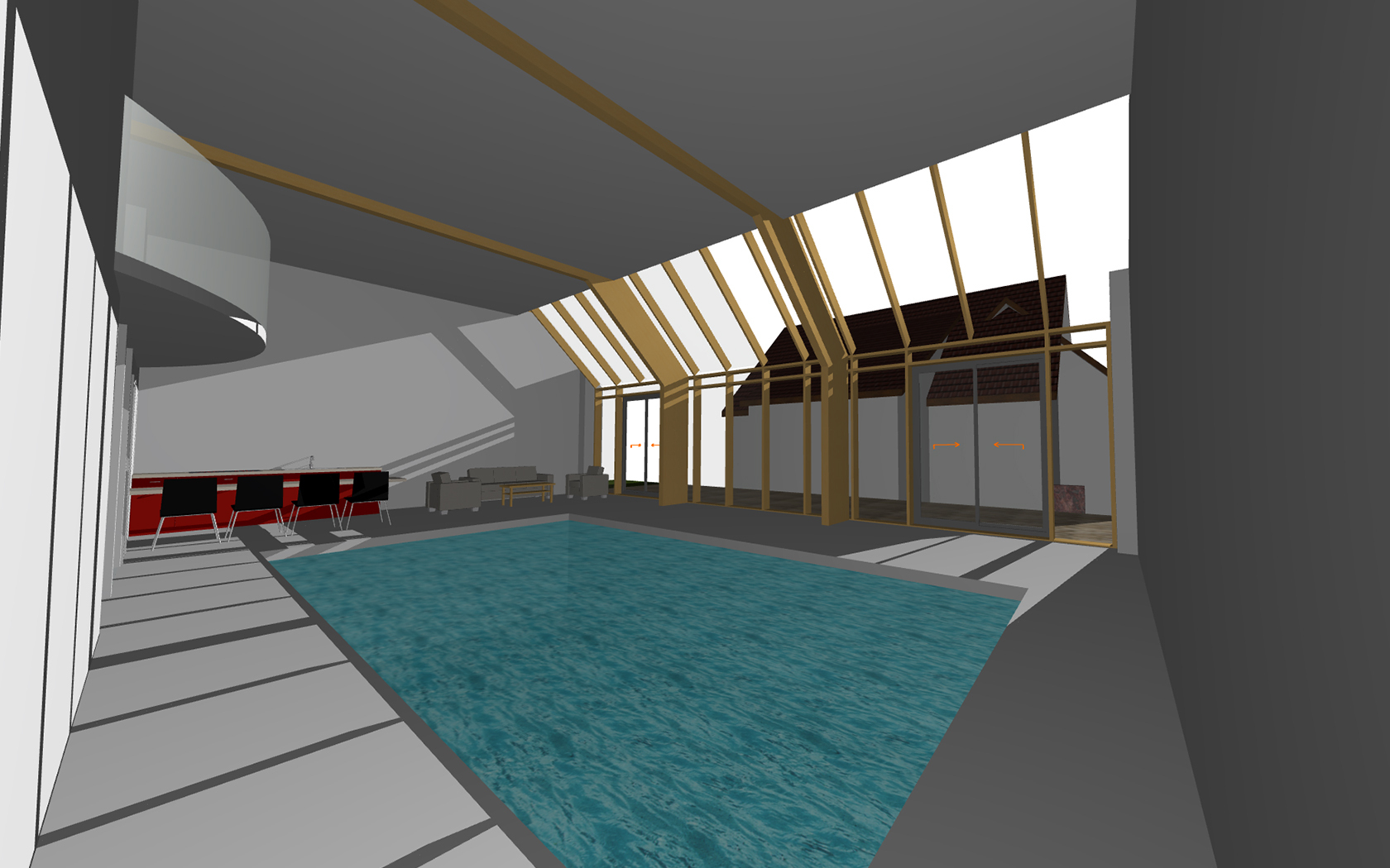 Piscine Couverte Europassive® 5 Re - Architecture K.m.o. pour Piscine Bouxwiller
