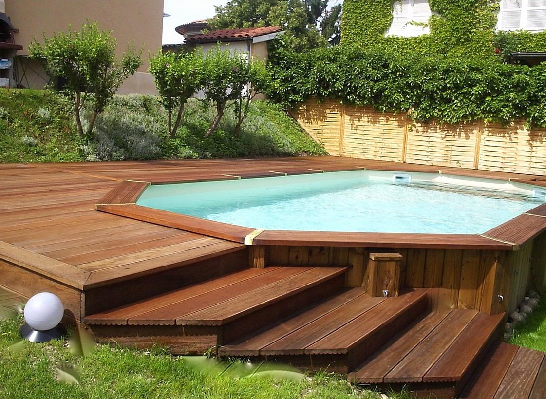 Piscine En Bois Pas Cher Schème - Idees Conception Jardin avec Piscine Autoportée Castorama