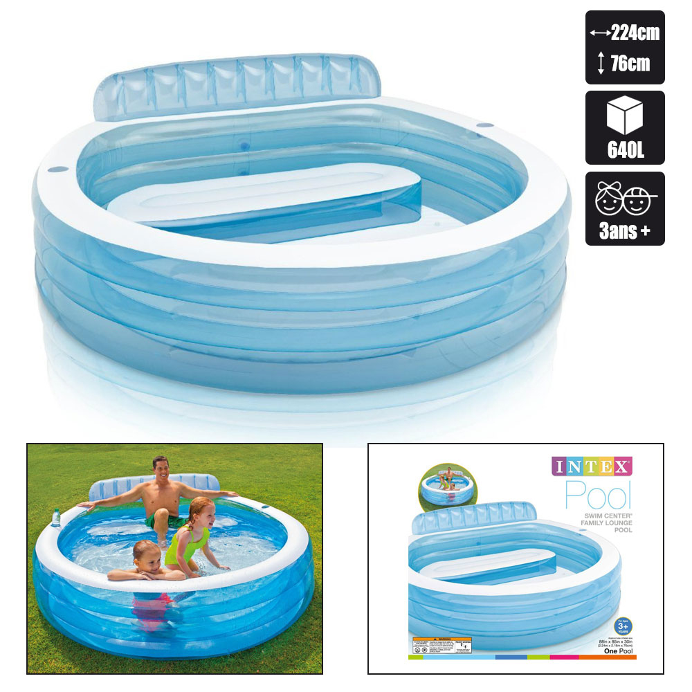Piscine Gonflable Intex Swim Center Family tout Piscine Enfant Pas Cher
