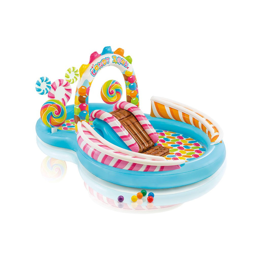 Piscine Gonflable Pour Enfants Intex 57149 Candy Play Center dedans Piscine Intex Enfant