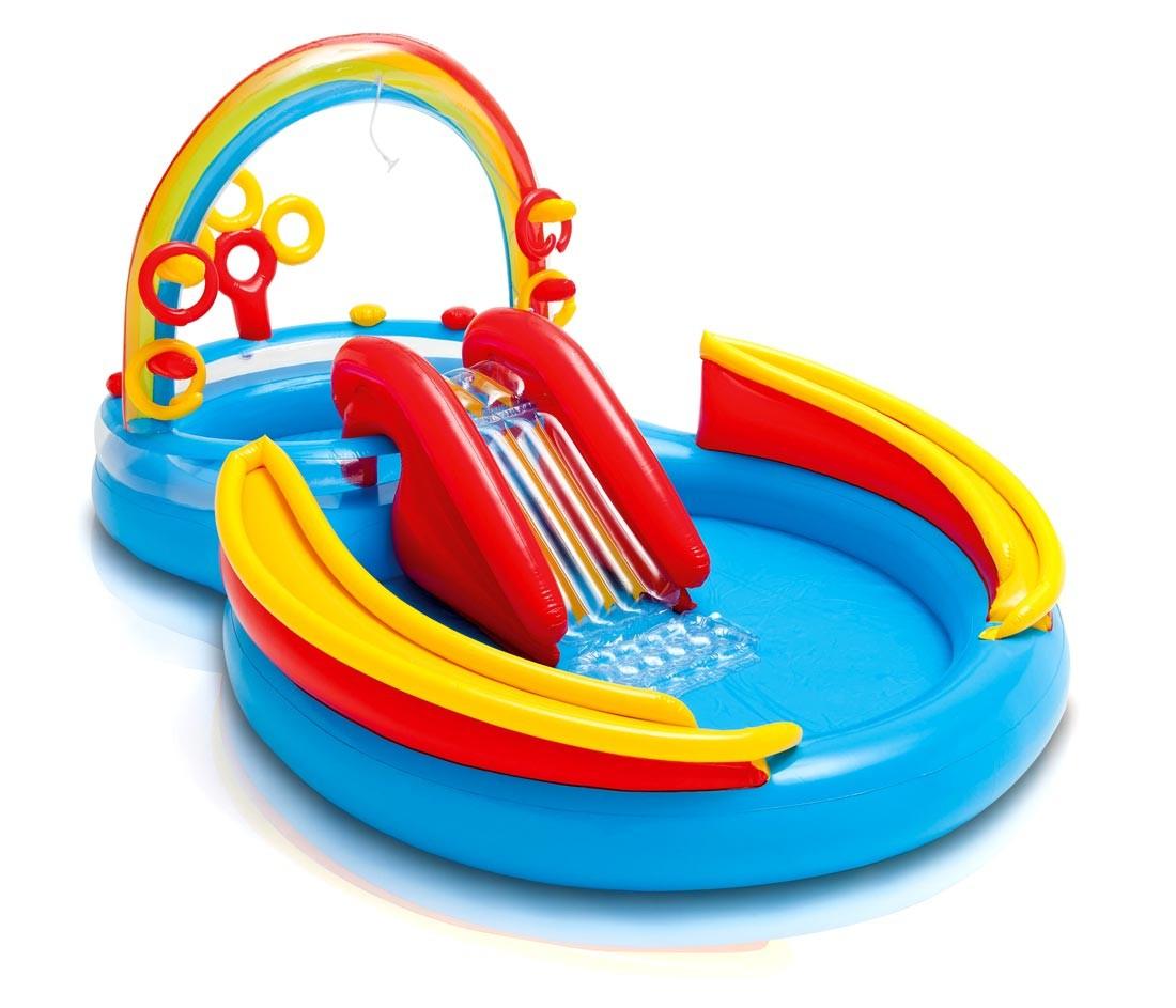 Piscine Gonflable Pour Les Enfants Intex 57453 Rainbow Ring Arc-En-Ciel Jeux intérieur Piscine Enfant Intex