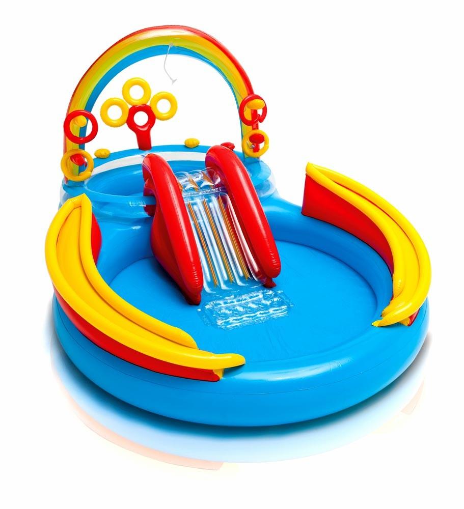 Piscine Gonflable Pour Les Enfants Intex 57453 Rainbow Ring Arc-En-Ciel Jeux pour Piscine Intex Enfant