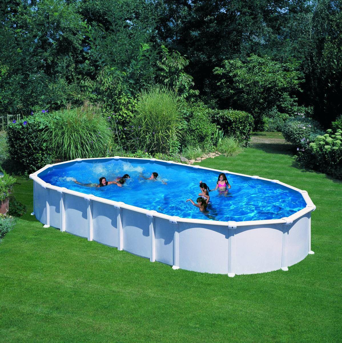 Piscine Gre D1000X550 H132 Hors Sol Acier Dream Pool Ovale ... tout Piscine Hors Sol Acier Ovale