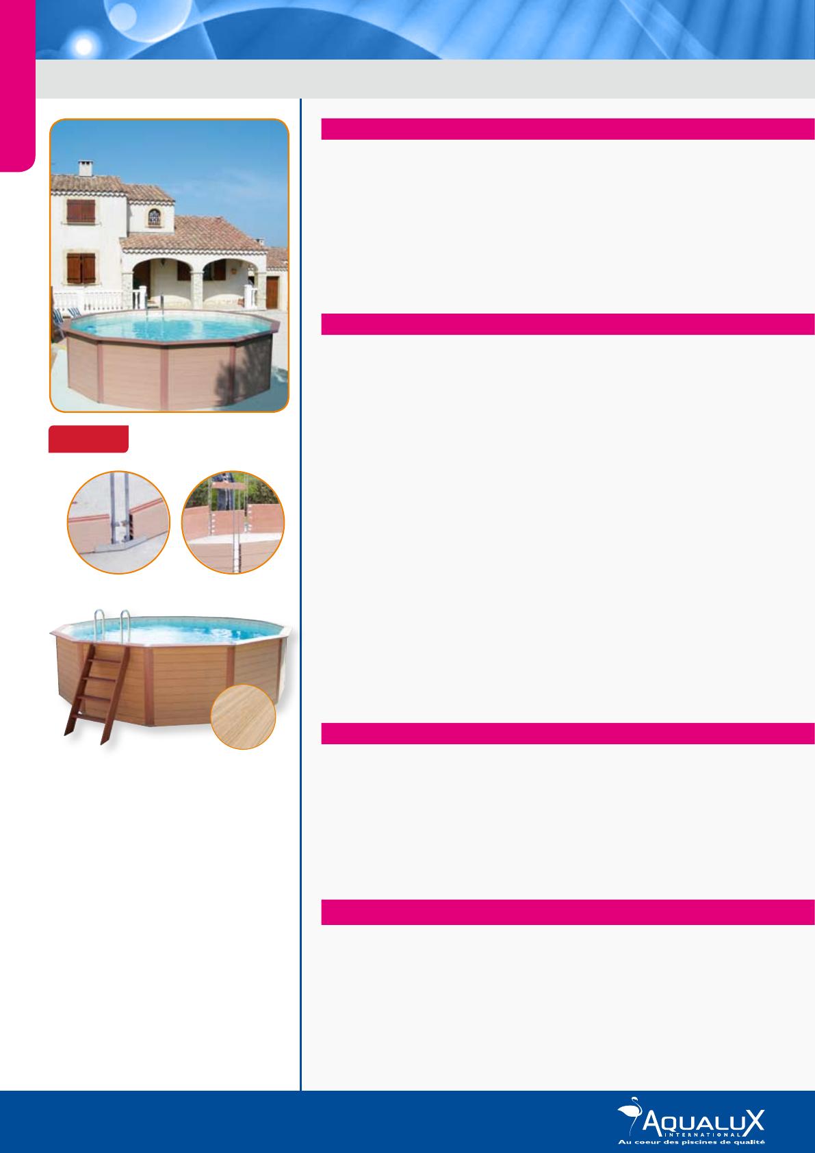 Piscine Hors-Sol Enterrable | Composite 2012 ... intérieur Piscine Enterrable
