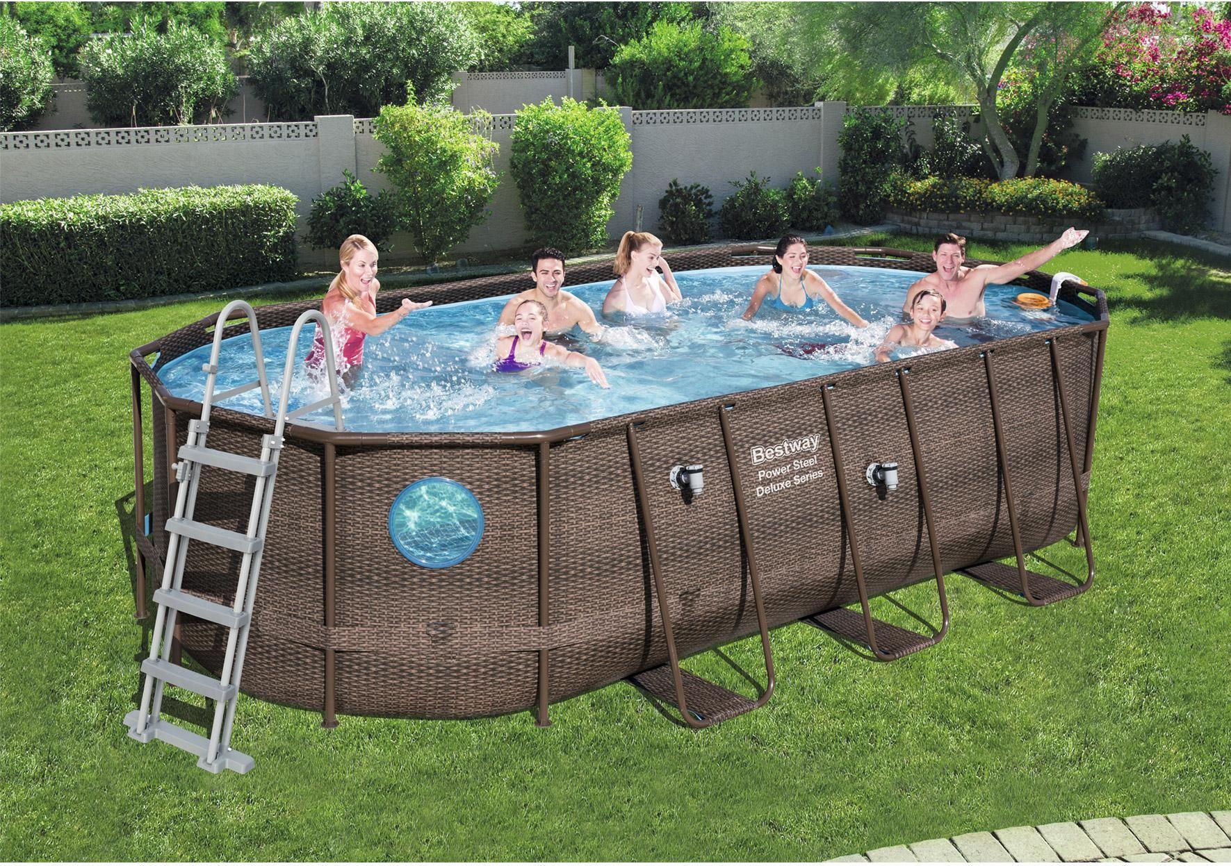 Piscine Hors-Sol Tubulaire Swim Vista Pool Bestway, L.5.49 X ... encequiconcerne Piscine Bestway Avis
