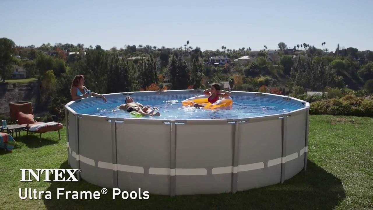 Piscine Intex Ultra Frame : Piscines Tubulaires Rondes serapportantà Piscine Hors Sol Intex Tubulaire