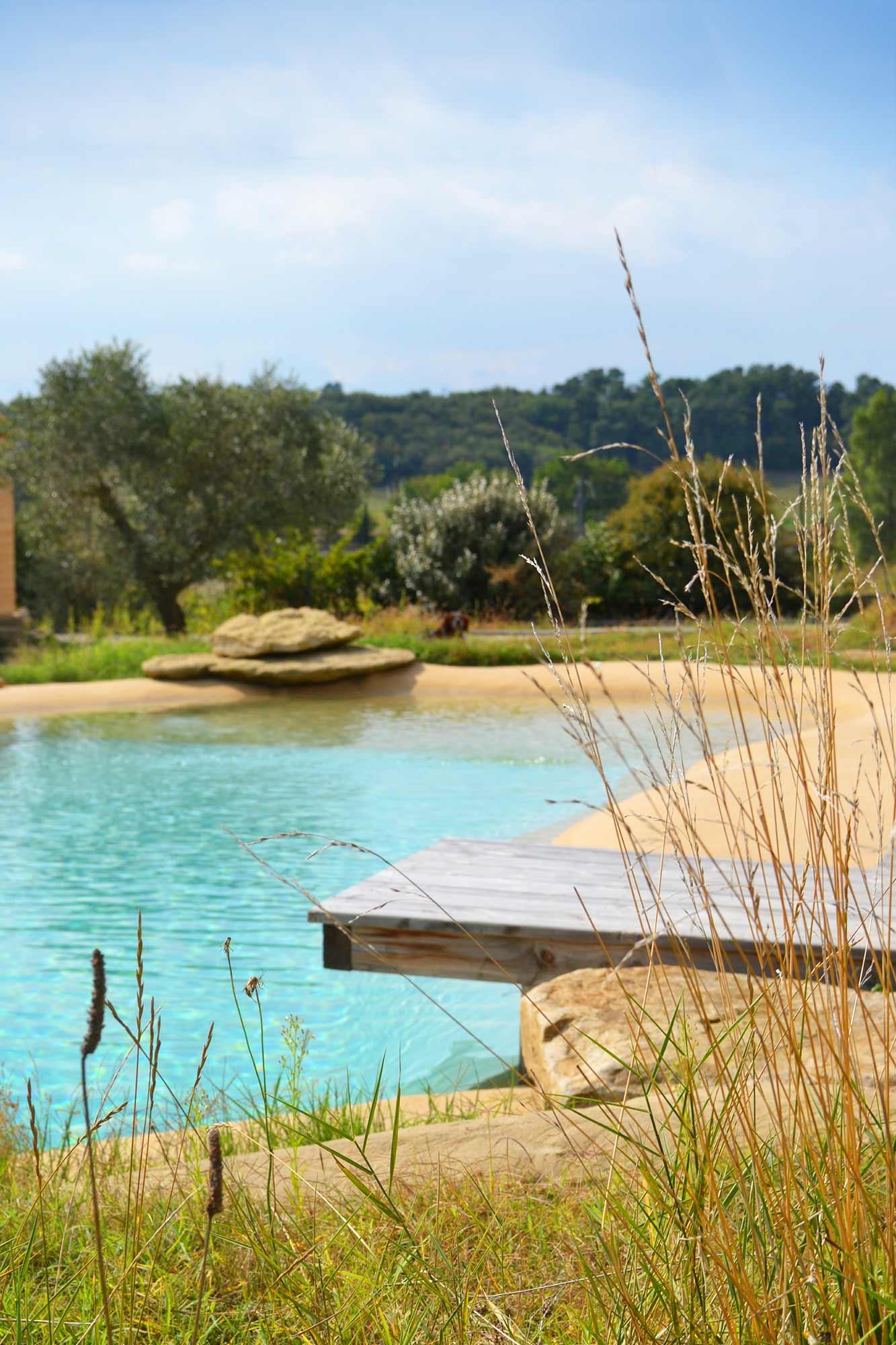 Piscine Naturelle Avec Plage. Lagune. à Piscine Lagon Prix