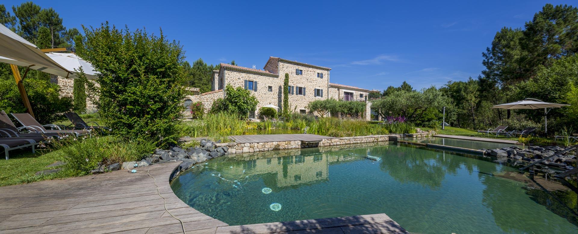 Piscine Naturelle Éco-Responsable | Hôtel De Charme En Ardèche pour Hotel Ardeche Avec Piscine