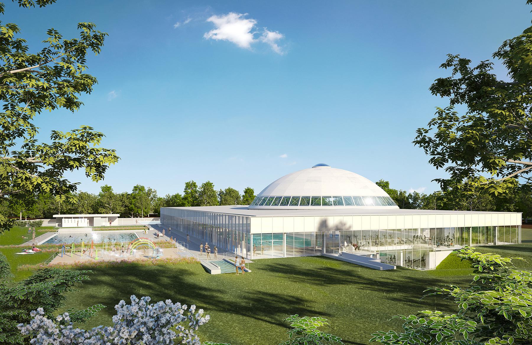 Piscine Olympique | Tna Architectes, Paris pour Piscine St Germain En Laye