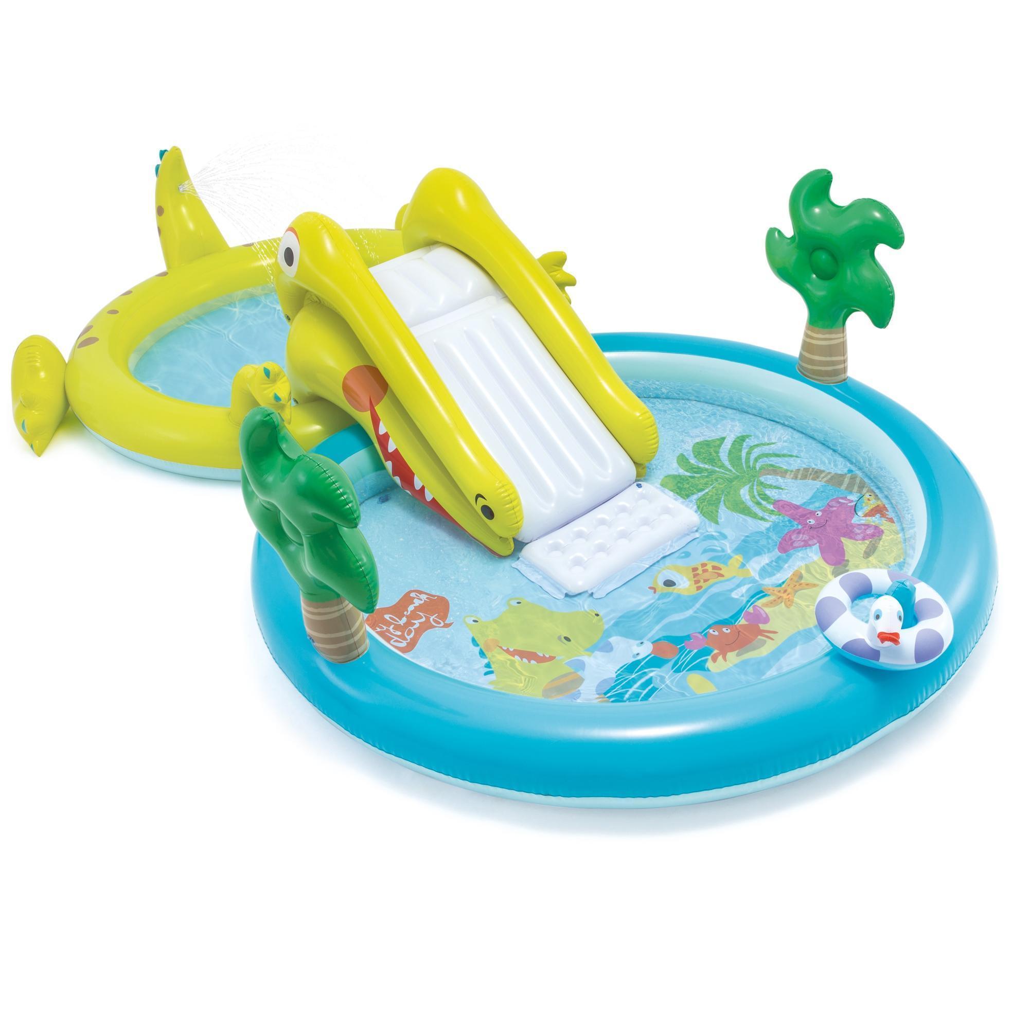 Piscine Parc Aquatique Intex Avec Toboggan Pour Les Enfants De Plus De 3 Ans destiné Piscine Intex Enfant