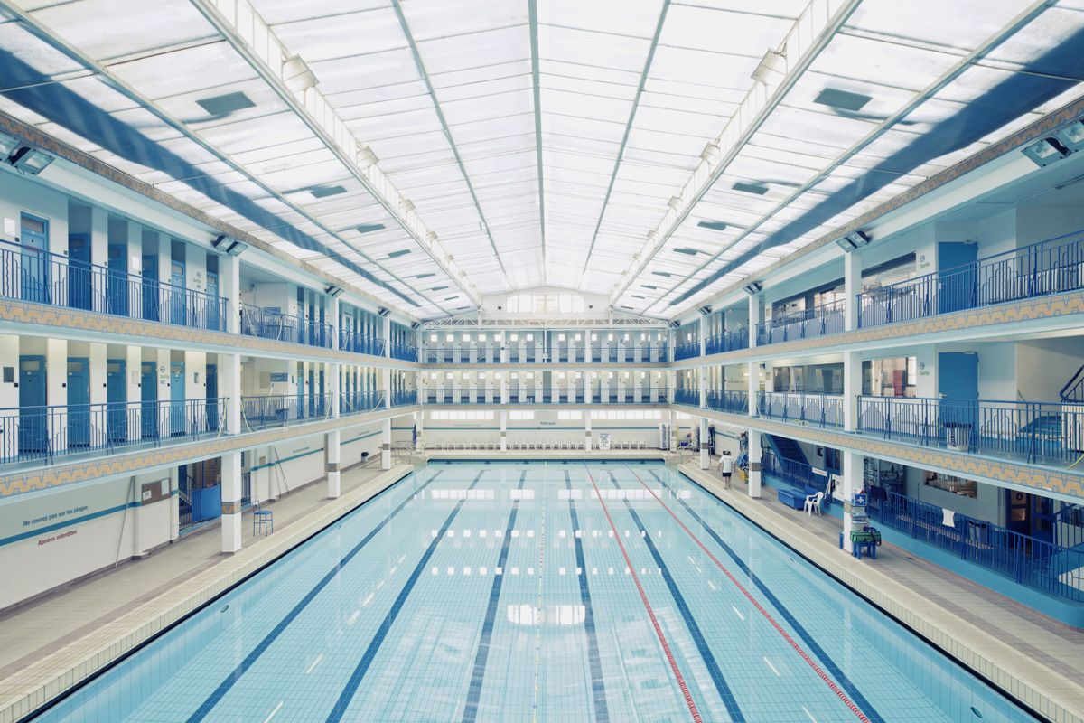 Piscine Pontoise #1, Paris, France, 2012 By Franck Bohbot ... destiné Piscine De Pontoise
