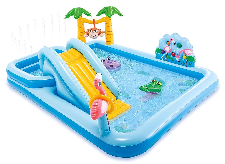 Piscine Pour Enfants Intex 57161 Jungle Adventure Play Center encequiconcerne Piscine Enfant Intex