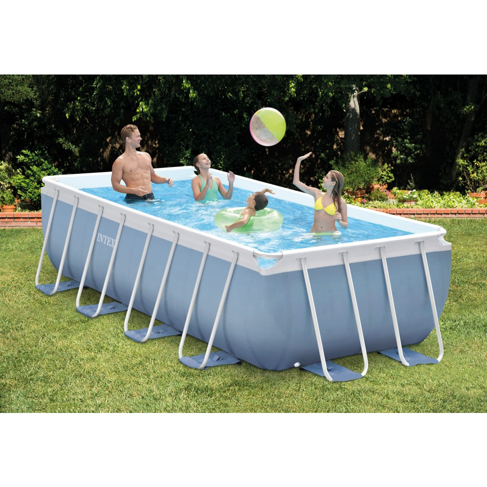 Piscine Rectanglaire Tubulaire Intex Prism Frame 400X200X100 Cm serapportantà Piscine Hors Sol Intex Tubulaire