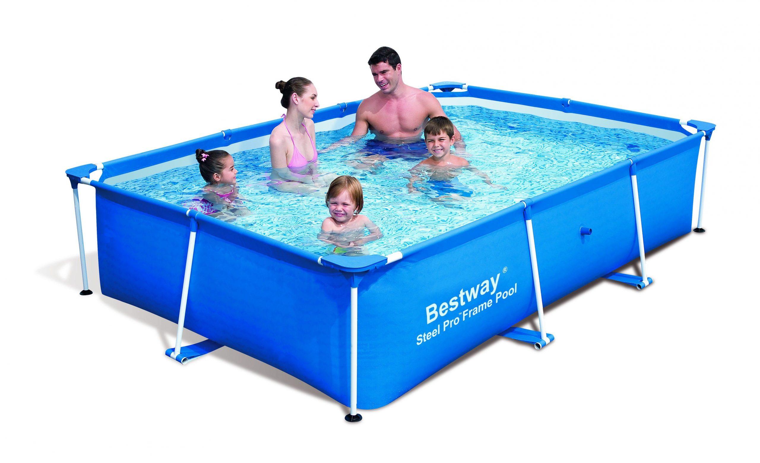 Piscine Rectangulaire Splash Frame Pools Bleue Au Meilleur ... destiné Cdiscount Piscine Tubulaire