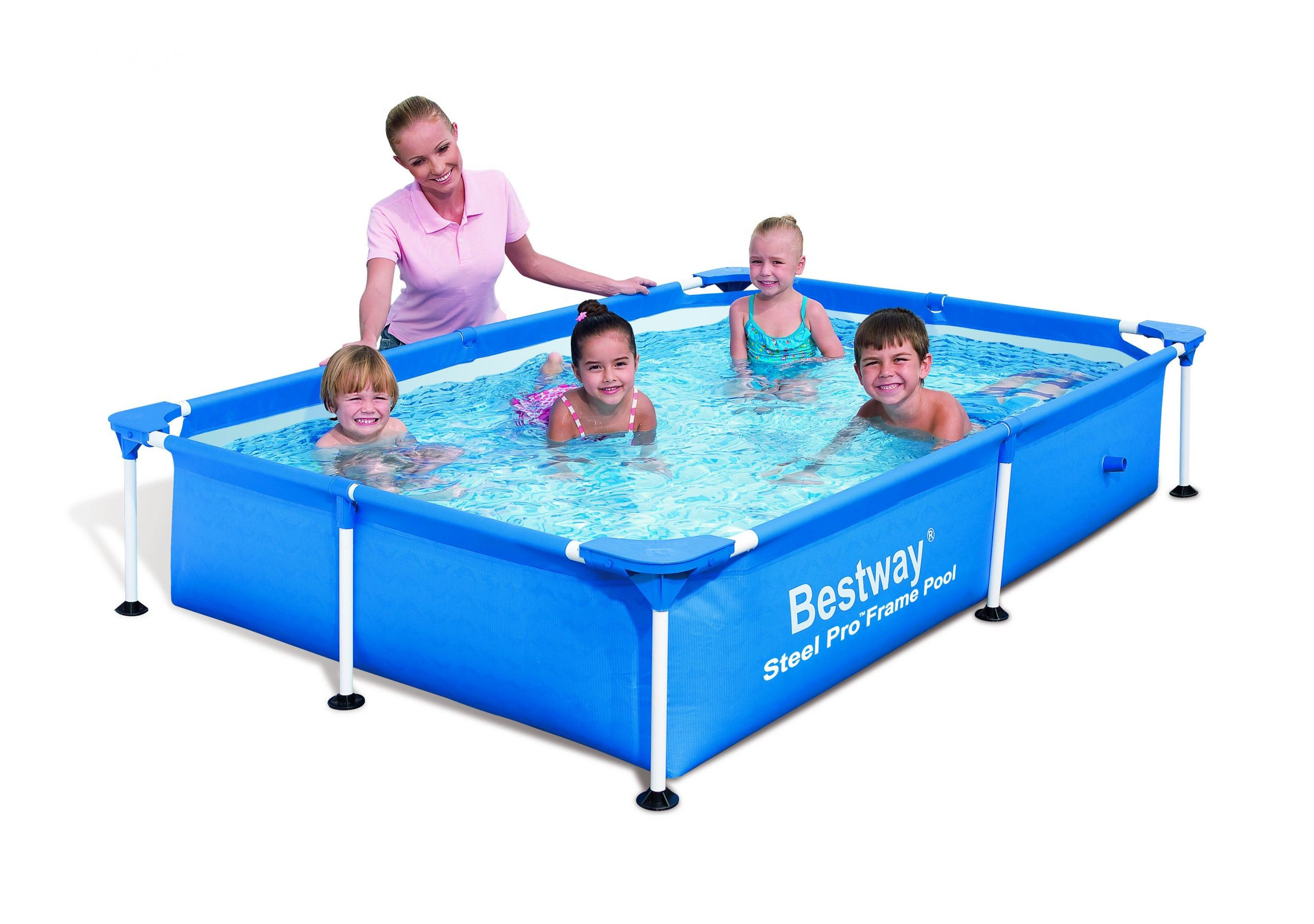 Piscine Rectangulaire Splash Frame Pools Bleue Au Meilleur ... serapportantà Auchan Piscine Tubulaire