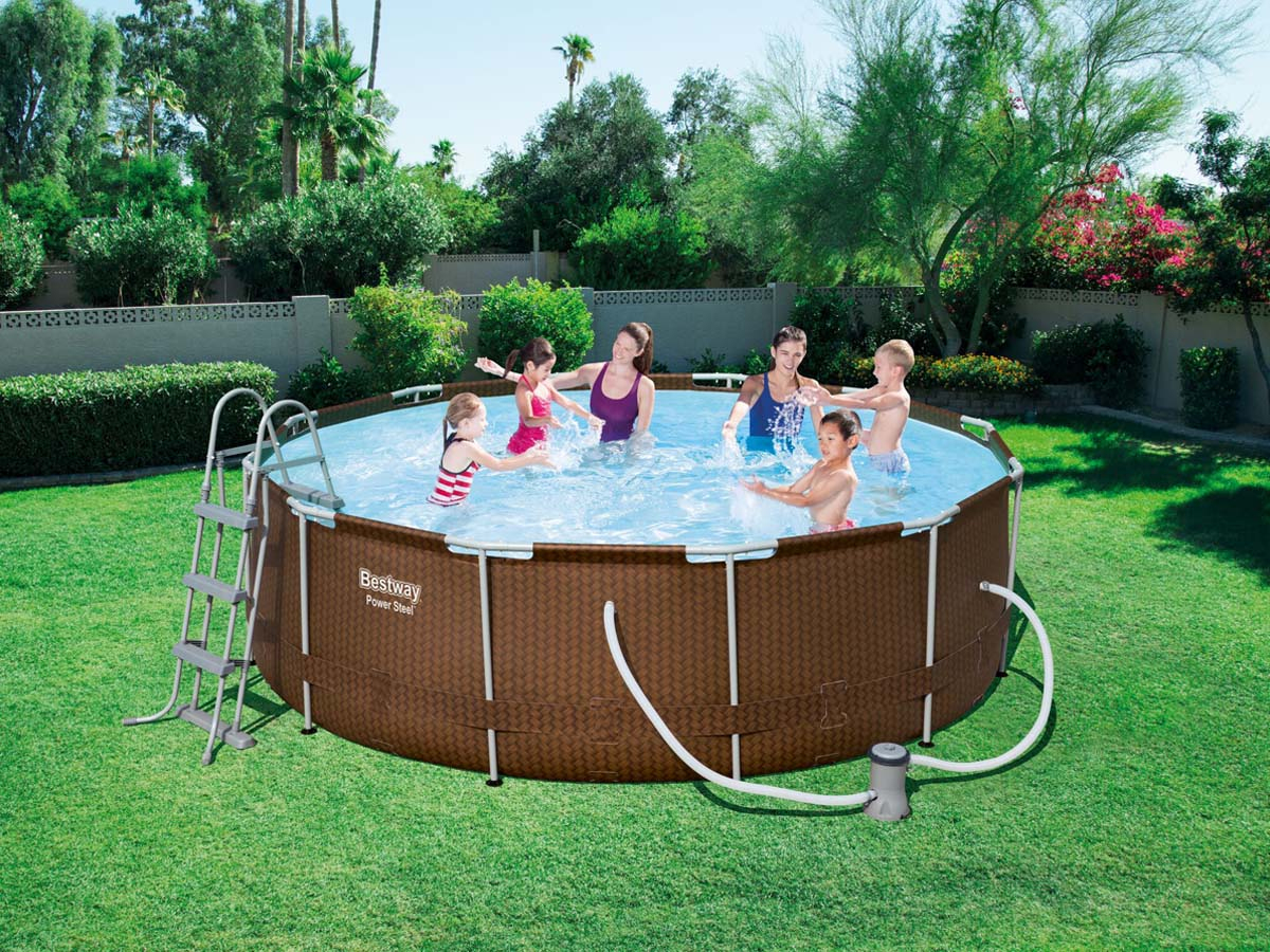 "Piscine Ronde ""steel Pro Frame Pools"" - 3.66 X 1.00 M 87906 tout Piscine Tubulaire 3.66"