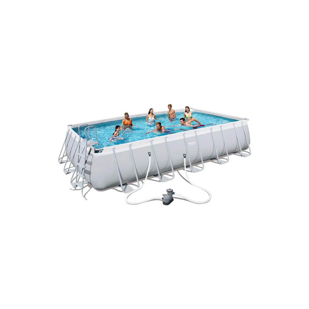 Piscine Tubulaire 671 X 366 X H132 Cm - Power Steel à Piscine Hors Sol Tubulaire Rectangulaire