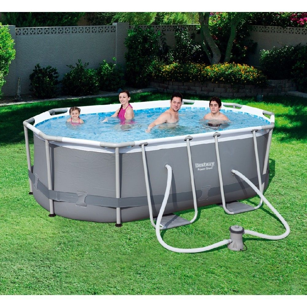 Piscine Tubulaire Bestway Power Steel™ 300 X 200 X H 84 Cm ... à Bache Piscine Gifi