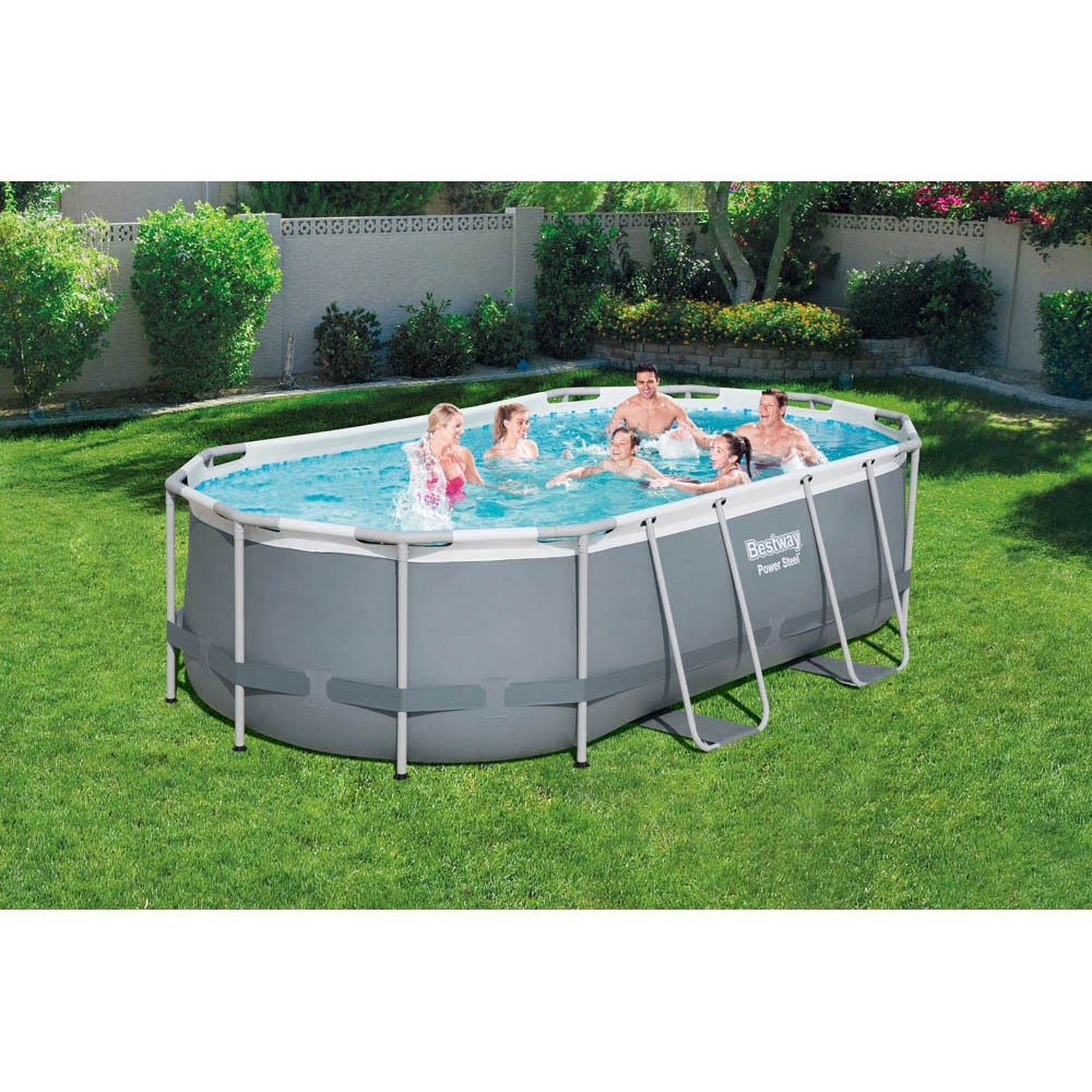 Piscine Tubulaire Bestway Power Steel™ 424 X 250 X H 100 Cm concernant Piscines Tubulaires