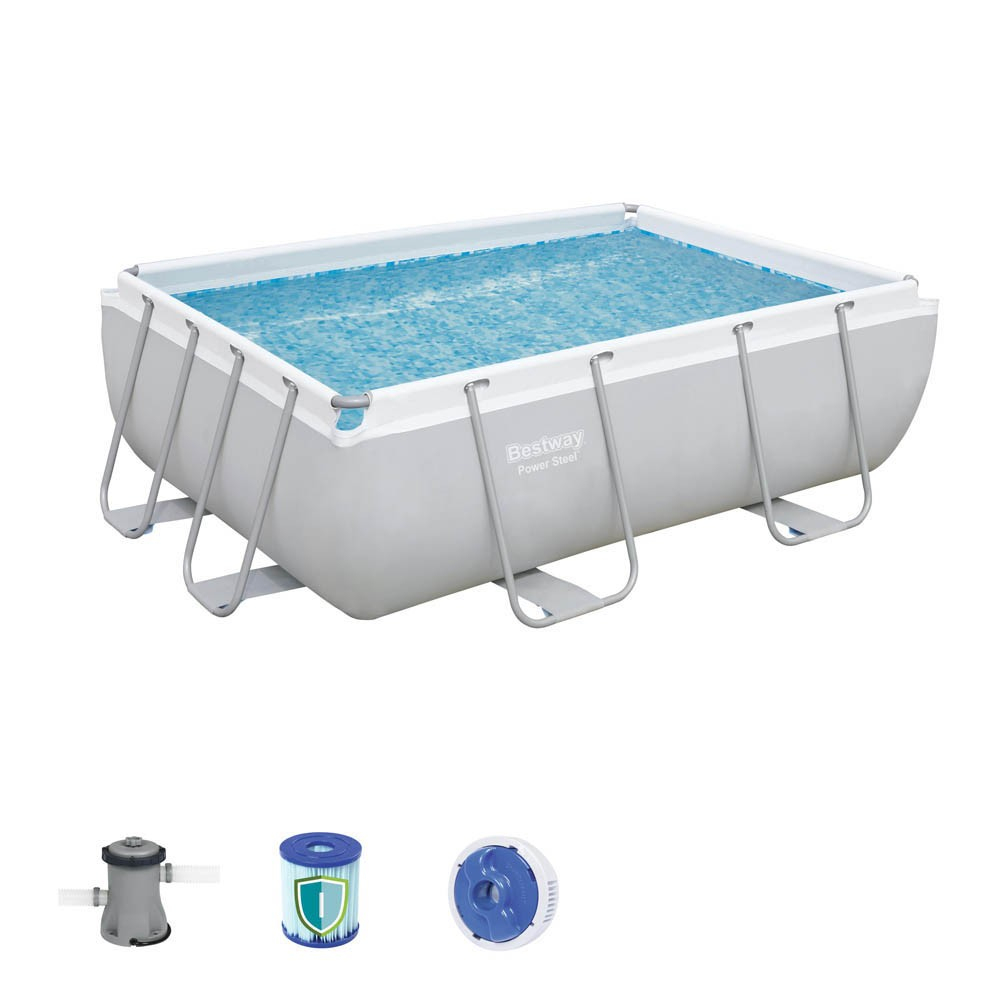 Piscine Tubulaire Bestway Power Steel™ Rectangulaire 282X196Xh84 Cm à Piscine Hors Sol Tubulaire Rectangulaire