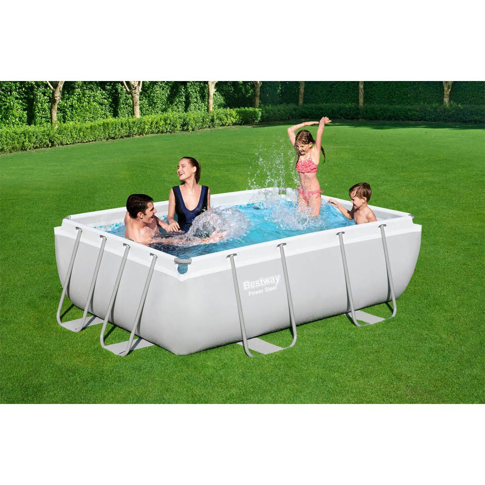 Piscine Tubulaire Bestway Power Steel™ Rectangulaire 282X196Xh84 Cm dedans Piscine Hors Sol Tubulaire Rectangulaire