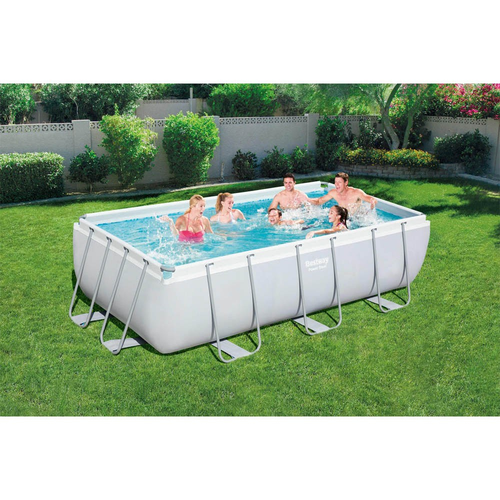 Piscine Tubulaire Bestway Power Steel™ Rectangulaire 404X201Xh100 Cm tout Piscine Acier Rectangulaire