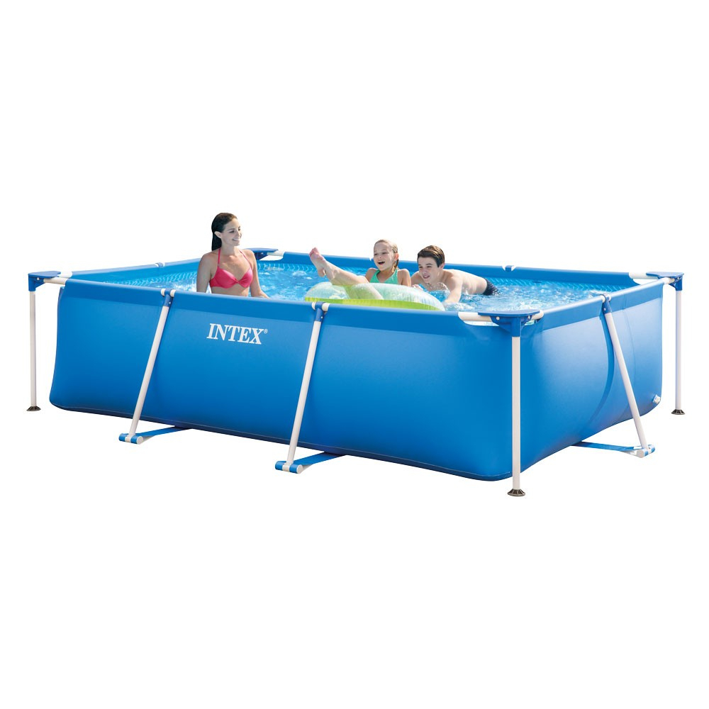 Piscine Tubulaire Intex Metal Frame Junior 300X200X75 Cm dedans Piscine Hors Sol Rectangulaire Intex