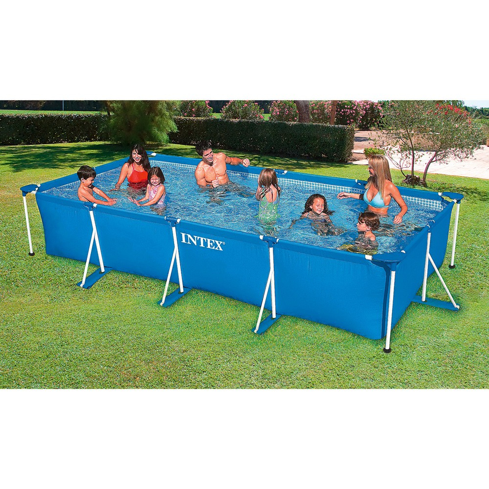Piscine Tubulaire Metal Frame Junior Intex 450 X 220 Cm dedans Piscine Hors Sol Tubulaire Rectangulaire