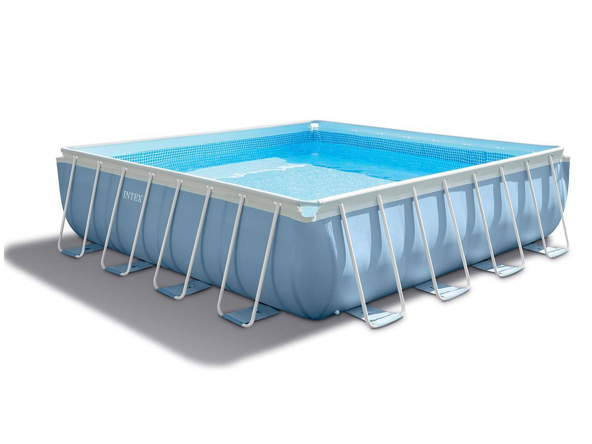 Piscine Tubulaire Prism Frame Carrée 4,27 X 4,27 X 1,07 M - Intex destiné Piscine Tubulaire Carrée