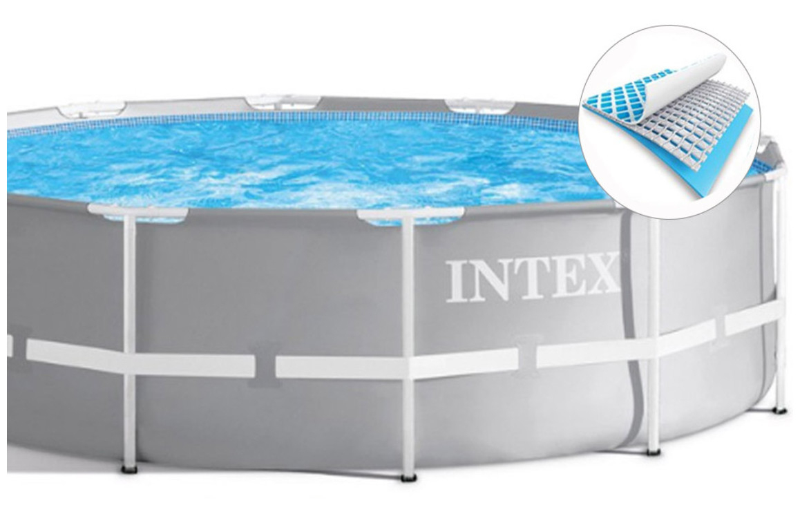 Piscine Tubulaire Prism Frame Intex Ø 3.66 X 1.22 M concernant Piscine Intex 3.66