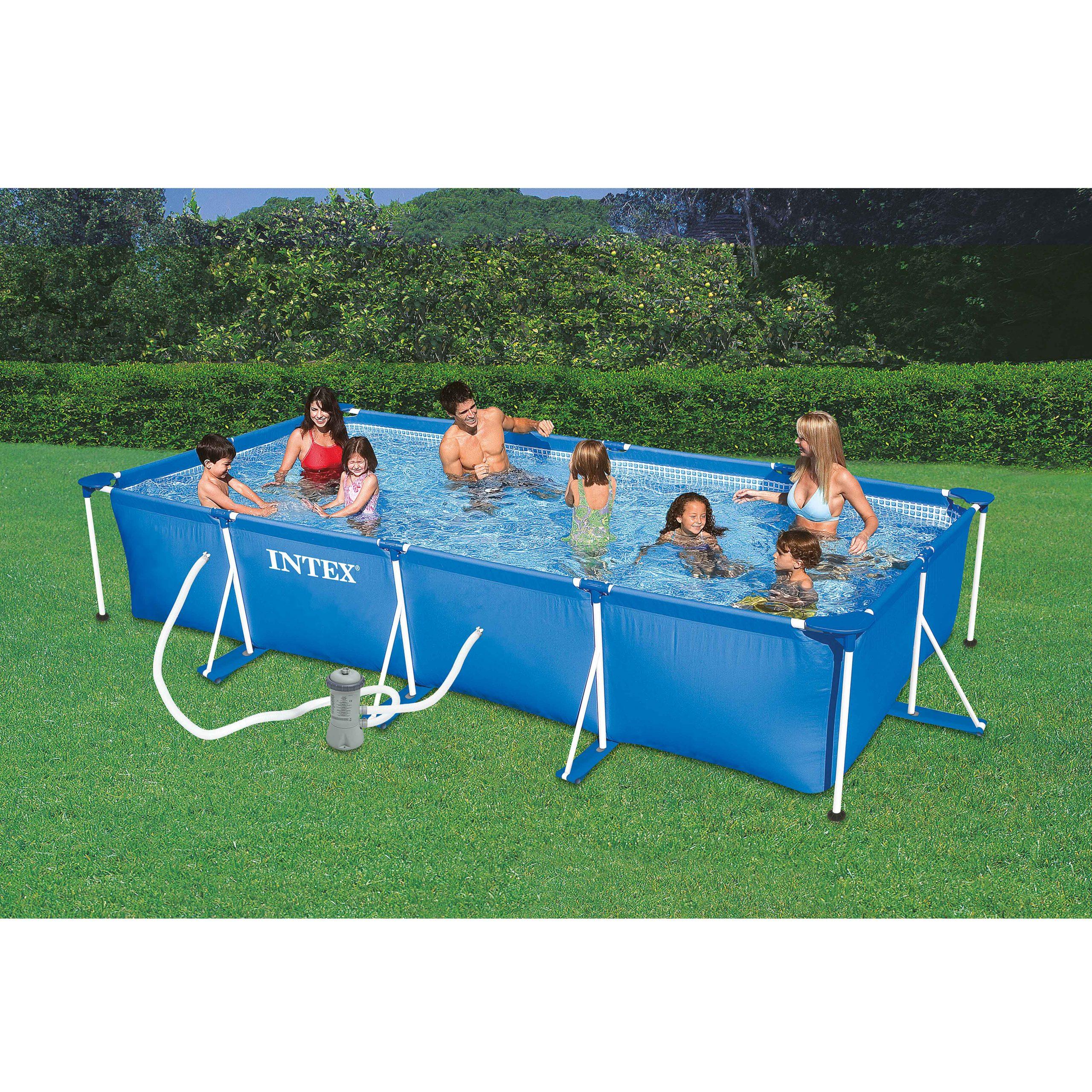 Piscine Tubulaire Rectangulaire 4,50 X 2,20 X 0,84 M Intex avec Piscine Hors Sol Intex Tubulaire
